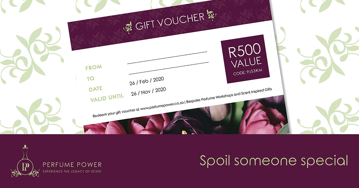 perfume power gift voucher